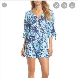 Lilly Pulitzer Bryce Blue/Navy Romper